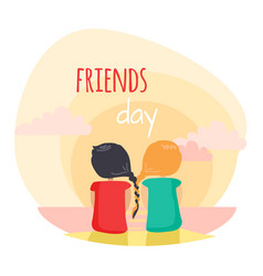 friendship fun pastime with loved reliable friend vector image vector image