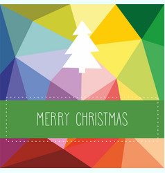 holidays card with christmas tree vector image vector image