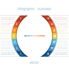 infographic strips and semicircle 7 vector image vector image