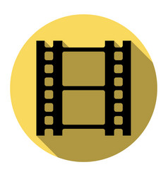 reel of film sign flat black icon with vector image