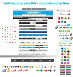 web collection vector image vector image