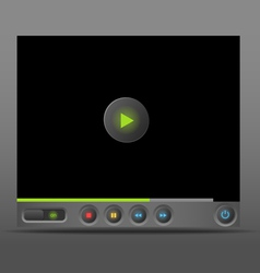 Web player template vector image