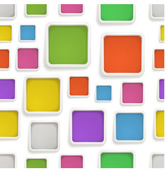 Abstract seamless background of color boxes vector image