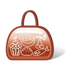 bag of food vector image