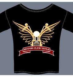 biker tee shirt vector image vector image
