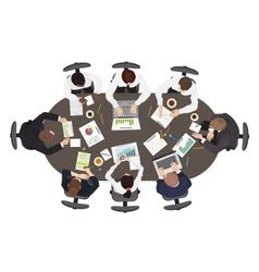 Business management teamwork strategy discuss vector image
