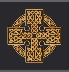 celtic cross ethnic ornament t-shirt print vector image