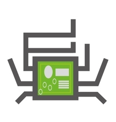 circuit board technical system pc vector image