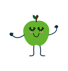 cute apple cartoon vector image