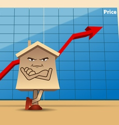 house price vector image