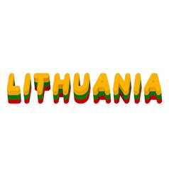 Lithuania typography Text of Lithuanian flag vector image vector image