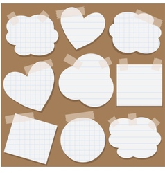 Paper stickers with scotch tape vector image