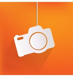 Photo camera web iconflat design vector image
