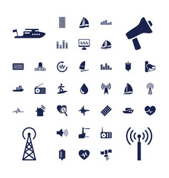 37 wave icons vector