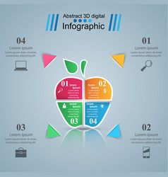 abstract apple digital infographic vector image