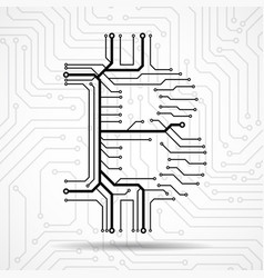 abstract sign bitcoin from circuit board vector image