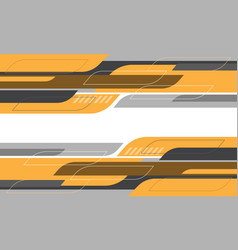 Abstract yellow grey geometric curve cyber vector
