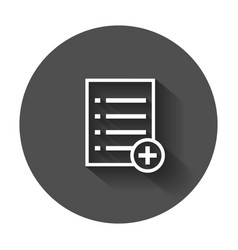 Add list document icon flat isolated documents vector