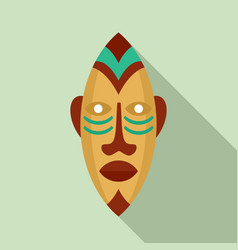 African mask icon flat style vector