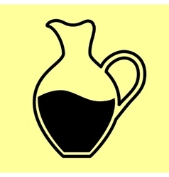 Amphora sign Flat style icon vector image
