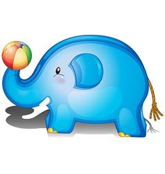 An elephant toy with a ball vector