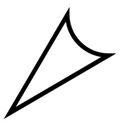 Arrowhead Left Down Thin Line Icon vector