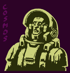Astronaut science fiction character in black vector