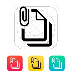 Attached files icon vector