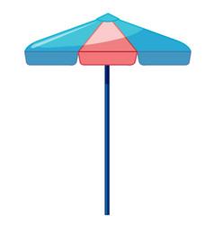 Beach umbrella on white background vector