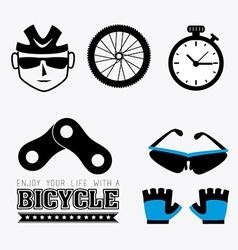 Bike design vector image
