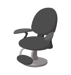 Black barber chair cartoon icon vector