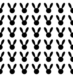 Black Rabbit White Background vector