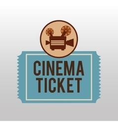 Camera movie vintage ticket icon design vector