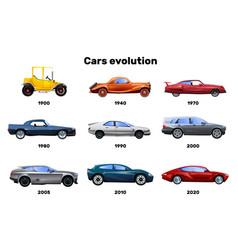 cars flat set vector image