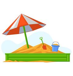 cartoon children summer outdoor sandbox games vector image
