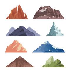 cartoon mountain outdoor rocks landscape for vector image