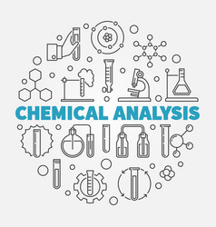 chemical analysis round in vector image