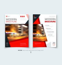 Cover design for brochure flyer report catalog vector