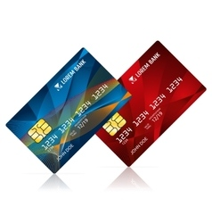 Credit card isolated on white vector