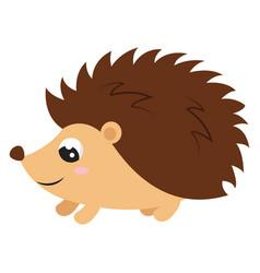 cute bahedgehog on white background vector image