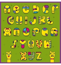 Dandy Alphabet Artistic font vector