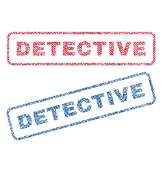 detective textile stamps vector image