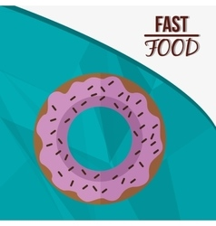 Donut and fast food design vector