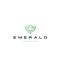 emerald diamond logo icon vector image