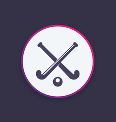 field hockey icon logo vector image