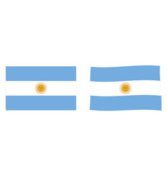 flag of argentine republic argentina simple and vector image