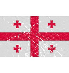 Flag of Georgia with old texture vector image