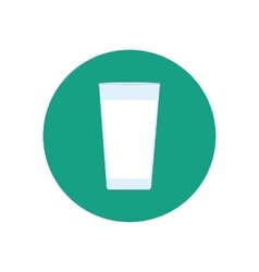 Glass of water milk vector image