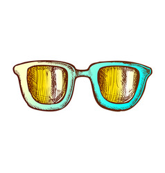 glasses horn-rimmed stylish accessory color vector image