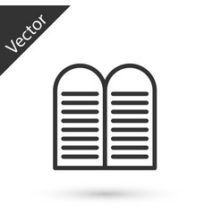 Grey line the commandments icon isolated on white vector